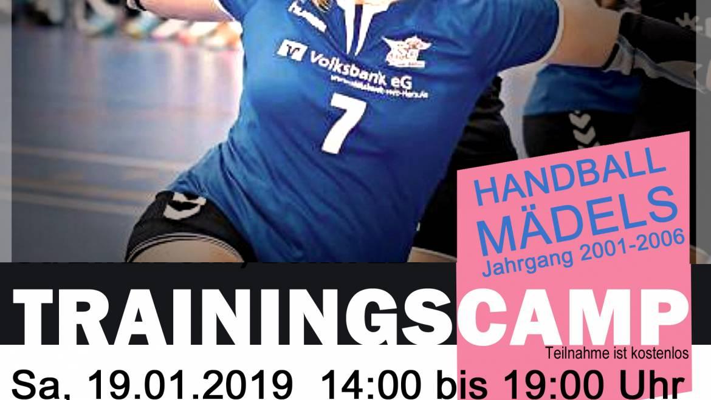 SG Trainingscamp am 19./20. Januar 2019 für weibliche Spielerinnen